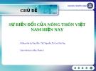 Thảo luận: Sự biến đổi của nông thôn Việt Nam hiện nay