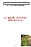 Bài thuốc công hiệu từ vỏ quả chanh - Nguyễn Khắc Bảo