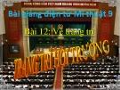 Bài giảng Trang trí hội trường - Mỹ thuật 9 - GV.N.Bách Tùng