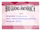 Bài giảng Tập đọc nhạc: TĐN số 8 – Âm nhạc 6 – GV.Trần Hoàng Như