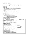 Giáo án bài Thực hành - Sắp xếp đồ đạc hợp lí trong nhà ở - Công nghệ 6 - GV:V.H.Quyên