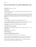 Giáo án Địa lý 10 bài 42: Môi trường và sự phát triển bền vững