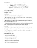 Bài 11: Khu vực Đông Nam Á - Giáo án Địa lý 11 - GV.Ng Thị Minh