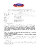 Tiểu luận: Phân tích tài chính Công ty cổ phần lương thực thực phẩm Safoco