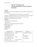 Bài 7: Tia nắng hạt mưa – Giáo án Âm nhạc 6 – GV.Trần Thái Bình