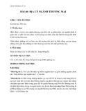 Giáo án Địa lý 10 bài 40: Địa lý ngành thương mại