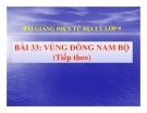 Bài giảng Địa lý 9 bài 33: Vùng Đông Nam Bộ (tt)