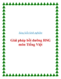 Sáng kiến kinh nghiệm: Giải pháp bồi dưỡng học sinh giỏi môn Tiếng Việt