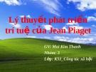 Tiểu luận: Lý thuyết phát triển trí tuệ của Jean Piaget