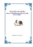 Sáng kiến kinh nghiệm: Nâng cao chất lượng dạy phần môn luyện từ và câu lớp 4