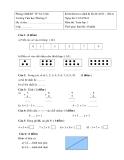 Đề kiểm tra 1 tiết Toán và Tiếng Việt 1 (2013 - 2014) - Trường Tiểu học Phường 9 (Kèm hướng dẫn)