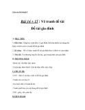 Giáo án bài Vẽ tranh đề tài gia đình - Mỹ thuật 8 - GV.T.Ánh Hồng