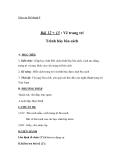 Giáo án bài Vẽ trang trí trình bày bìa sách - Mỹ thuật 8 - GV.T.Ánh Hồng