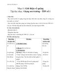 Giáo án Âm nhạc 9 bài 1: Nhạc lí: Giới thiệu về quãng. Tập đọc nhạc: Giọng Son trưởng - TĐN số 1