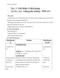 Giáo án Âm nhạc 9 bài 3: Nhạc lí: Giới thiệu về dịch giọng. Tập đọc nhạc: Giọng pha trưởng - TĐN số 3