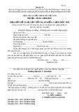 Mẫu đơn đề nghị cấp tiền học miễn giảm học phí