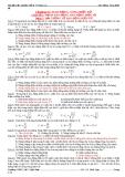 Bài tập trắc nghiệp Vật lý 12 nâng cao - Dao động, sóng điện từ