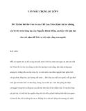 Văn mẫu lớp 9: Lời ru với cuộc sống con người