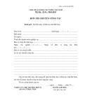 Mẫu đơn xin chuyển công tác dành cho viên chức