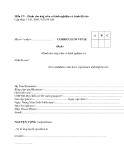 Mẫu CV (Dành cho ứng viên có kinh nghiệm và trình độ cao)