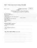 Mẫu CV (Dành cho ứng viên mới ra trường, ít kinh nghiệm)