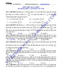 Bài tập ôn tập các dạng bài toán về dòng điện xoay chiều - GV Vũ Đình Hoàng
