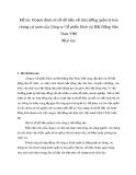 Tiểu luận: Hoạch định cơ sở dữ liệu về thị trường quản lý bán chung cư mini của Công ty Cổ phần Dịch vụ Bất Động Sản Nam Việt