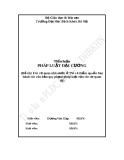 Tiểu luận: Các cơ quan nhà nước ở TW và thẩm quyền ban hành các văn bản quy phạm pháp luật của các cơ quan đó