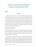 Sáng kiến kinh nghiệm: Tham gia công tác tự đánh giá (KĐCLGD) để nâng cao chất lượng giáo dục THPT