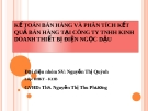 Tiểu luận: Kế toán bán hàng và phân tích kết quả bán hàng tại Công ty TNHH kinh doanh thiết bị điện Ngọc Dậu
