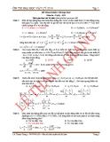 Đề tham khảo ôn thi đại học năm 2014 môn vật lý (đề 1)