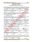 Đề tham khảo thi đại học năm 2014 môn vật lý (đề 4)