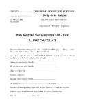 Mẫu hợp đồng thử việc song ngữ (Anh - Việt)
