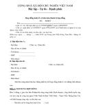 Mẫu hợp đồng kinh tế và biên bản thanh lý hợp đồng