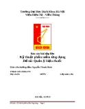 Báo cáo BTL Kỹ thuật phần mềm: Thiết kế phần mềm Quản lý hiệu thuốc với MS SQL - C Sharp - WindowForm