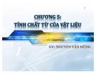 Bài giảng vật liệu (GV Nguyễn Văn Dũng) - Chương 5: Tính chất từ của vật liệu