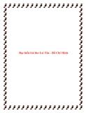 Bài văn mẫu lớp 12: Đọc hiểu bài thơ Lai Tân - Hồ Chí Minh