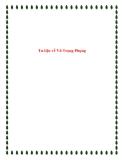 Bài văn mẫu lớp 12: Tư liệu về Vũ Trọng Phụng.