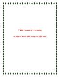 """Bài văn mẫu lớp 12: Ý kiến của anh chị về tư tưởng của Nguyễn Khoa Điềm trong bài """"Đất nước"""""""