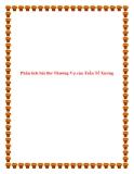 Văn phân tích lớp 9: Phân tích bài thơ Thương Vợ của Trần Tế Xương