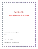 Bài văn mẫu lớp 12: Trách nhiệm của con đối với gia đình