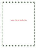 Bài văn mẫu lớp 12: Tư liệu về tác giả Nguyễn Tuân