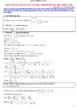 Một số bài tập dãy số - số học trong đề thi học sinh giỏi (ThS Trần Quốc Dũng)