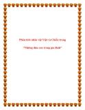 Bài văn mẫu lớp 12: Phân tích nhân vật Việt và Chiến trong Những đứa con trong gia đình
