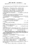 Đề ôn tập Sinh học 12 - Đề số 1
