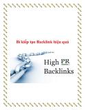 Bí kiếp tạo Backlink hiệu quả