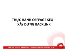 Thực hành Offpage SEO - Xây dựng Backlink