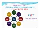 SEO Master cách tạo Backlink cho Website - Ưu và nhược điểm