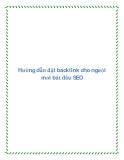 Hướng dẫn đặt Backlink cho người mới bắt đầu SEO
