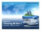 Bài giảng Internet và thương mại điện tử - Hà Văn Sang